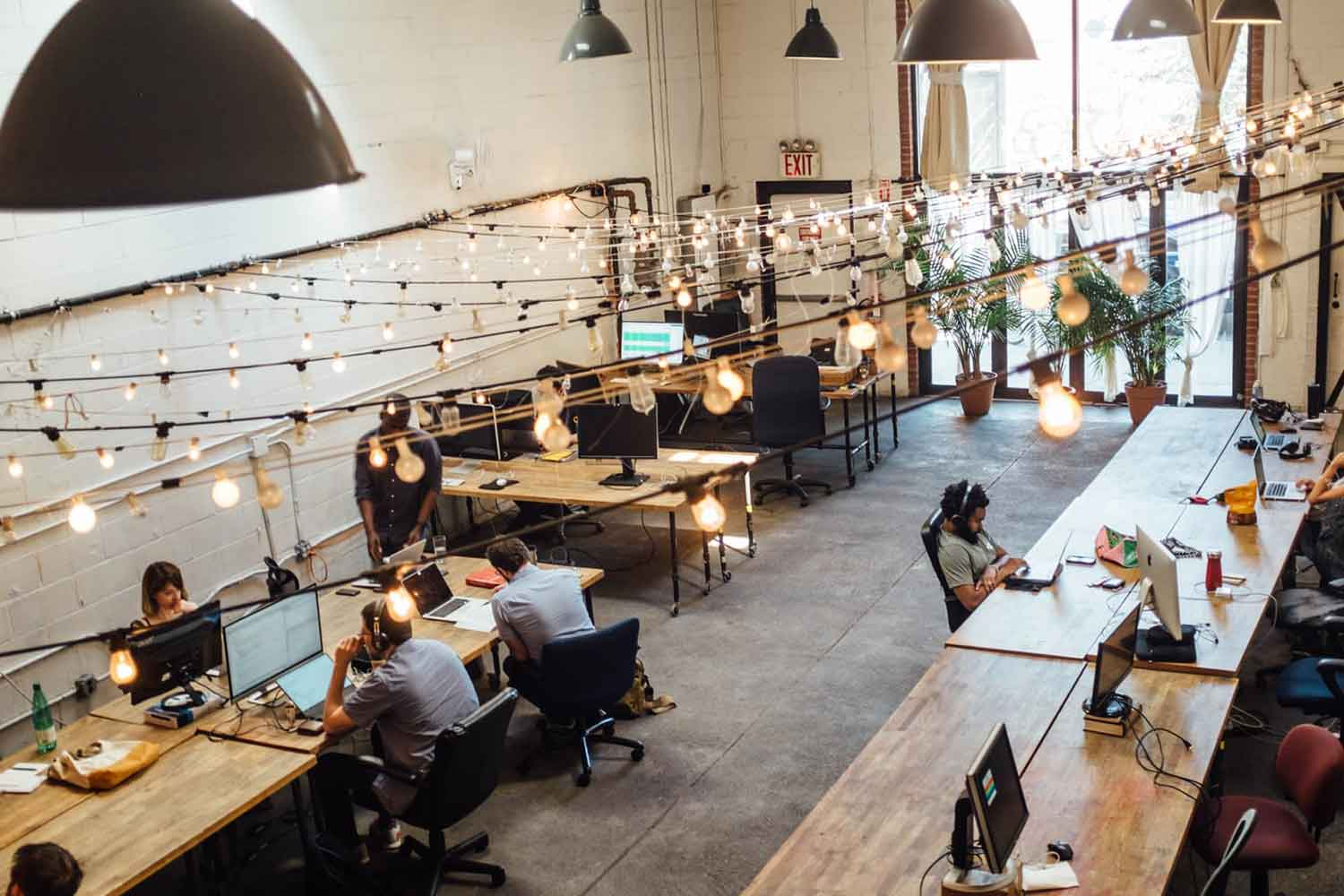 wide co-working office space